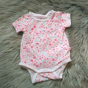 SOURIS MINI baby girl floral bodysuit